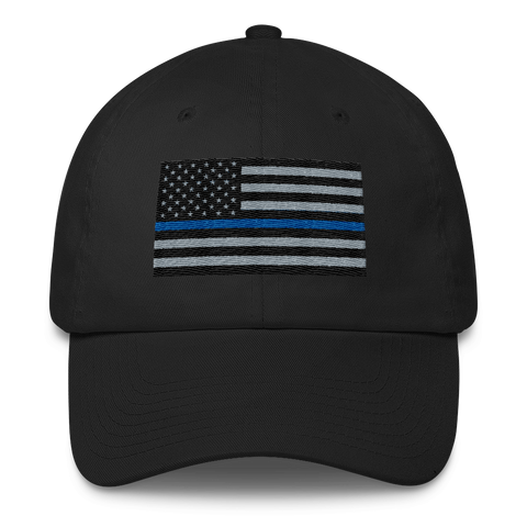 The Thin Blue Line Low Profile Cotton Cap - The 2nd Tee Shop