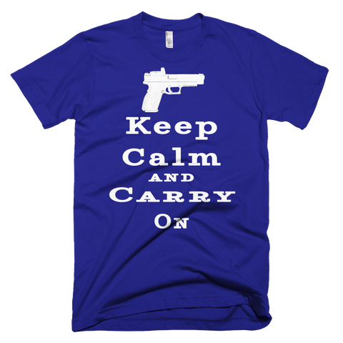 Keep Calm and Carry On Men's Short Sleeve Tees - The 2nd Tee Shop