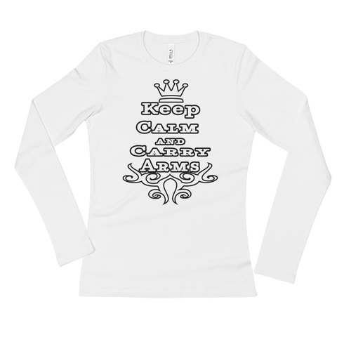 Keep Calm And Carry Arms Ladies' Long Sleeve T-Shirt - The 2nd Tee Shop