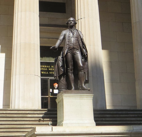 Boston Spice George Washington Statue At Federal Hall New York City