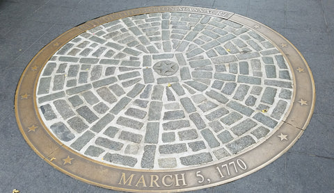 Boston Spice Boston Massacre Landmark Site Location at the Old State House