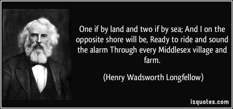 Henry Wadsworth Longfellow One If By Land Two If By Sea