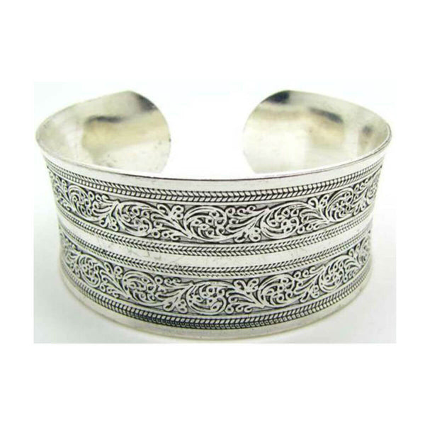 Women's Silver European Style Cuff BraceletBracelets,  - Things to Zen About