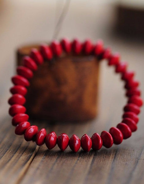 Tibetan Natural Blood Beads Bodhi Prayer Meditation Bracelet. Bead diameter 8mmBead Bracelets,  - Things to Zen About