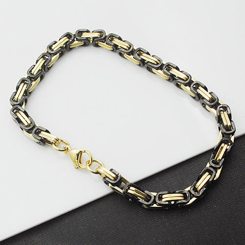 Men's Stainless Steel Snake Chain Link Bracelet 5mmBracelet,  - Things to Zen About