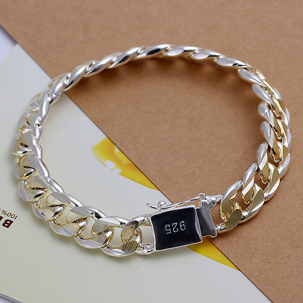 Men's Sterling Silver Chain Link BraceletBracelets,  - Things to Zen About