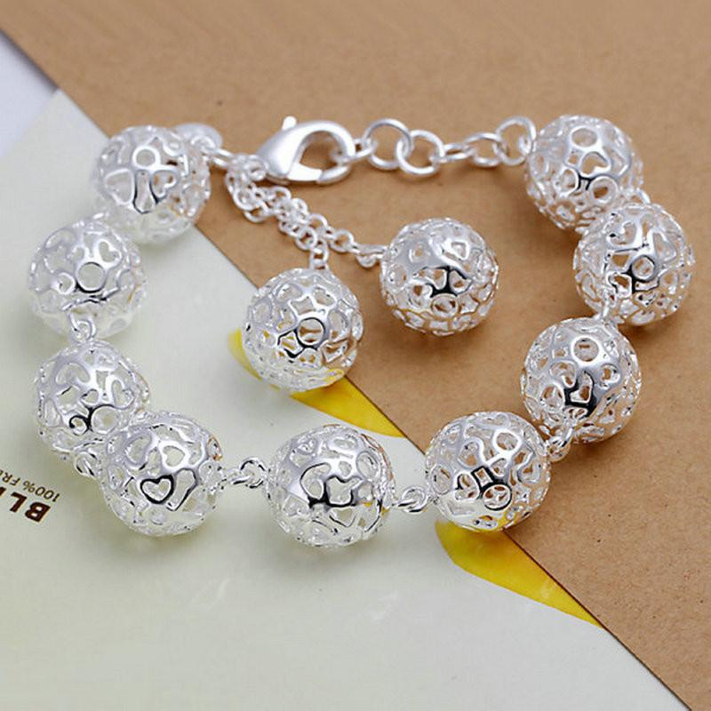 Sterling Silver Filigree Balls Bracelet with Secure Lobster ClaspChain & Link Bracelets,  - Things to Zen About