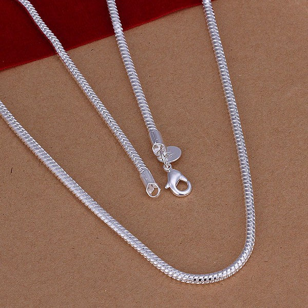 "Sterling Silver 3mm Snake Chains, Lengths 16""-24"", Perfect for Chakra PendantsChain Necklaces,  - Things to Zen About"