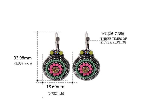 Women's Vibrant Multi-Colored Beaded Drop EarringsDrop Earrings,  - Things to Zen About