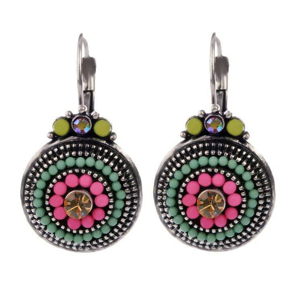 Vibrant Multi-Colored Beaded Drop Earrings - Choose your Pop of ColorDrop Earrings,  - Things to Zen About