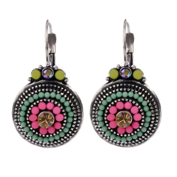 Drop Earrings - Vibrant Multi-Colored Beaded Drop Earrings - Choose Your Pop Of Color