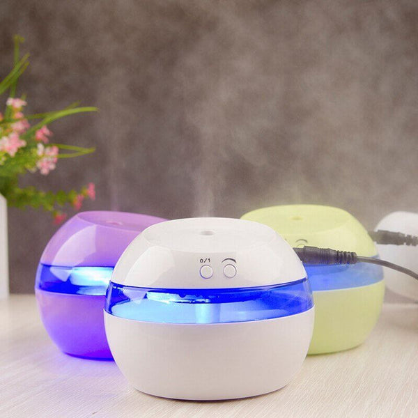 Small Portable USB Aromatherapy Essential Oil Diffuser and Air Humidifier with LED LightEssential Oil Diffusers,  - Things to Zen About