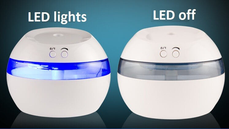 small portable usb essential oil diffuser and air humidifier with led light
