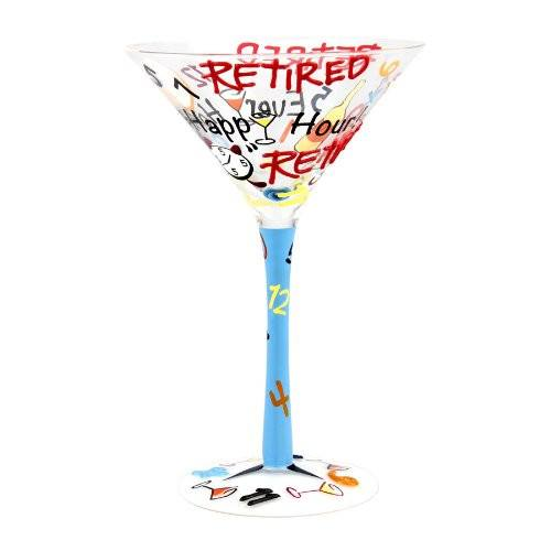 "Hand Painted Martini Glass "" Retired - Every Hour is Happy Hour"" with Beautiful Gift BoxHand-Painted Glasses,  - Things to Zen About"