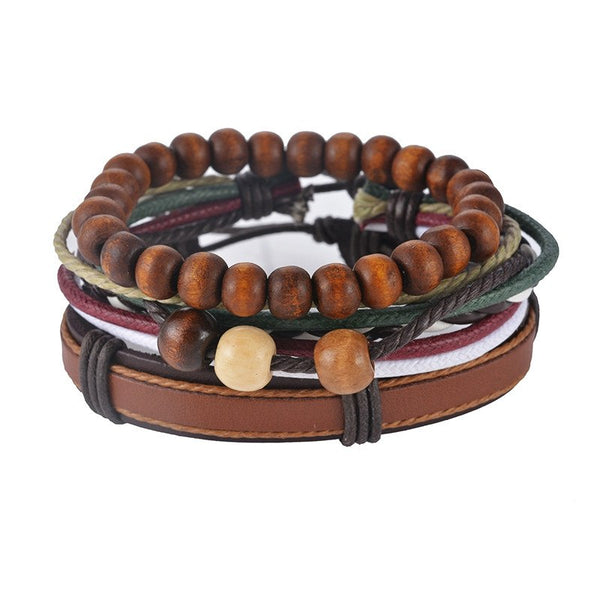 Genuine Leather Bracelet - Each set Includes 3-5 piecesLeather Bracelets,  - Things to Zen About