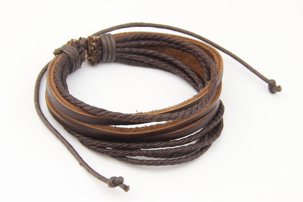 Genuine Leather Braided Wrap BraceletBracelets,  - Things to Zen About