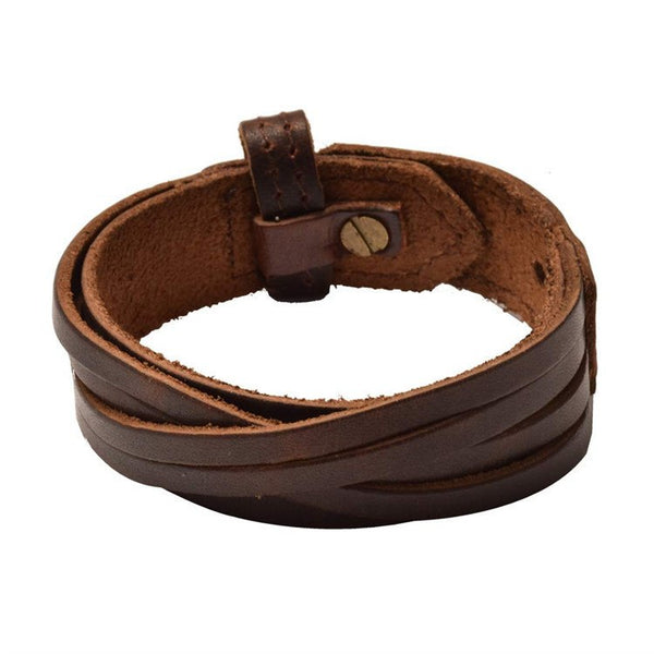 Genuine Leather Multi-Strand Bracelets in Black or Coffee...but not black coffee :)Leather Bracelets,  - Things to Zen About