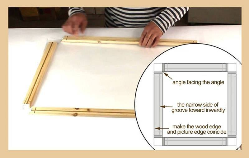 Natural Wood Frame for Prints & Canvas Paintings - For the Do It ...