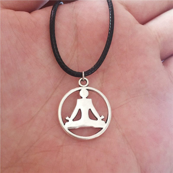Beautiful & Simple Silver Yoga Meditation Pendant NecklacePendant Necklaces,  - Things to Zen About