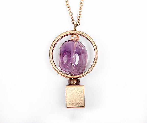 Beautiful Natural Amethyst Pendant NecklaceNecklaces,  - Things to Zen About