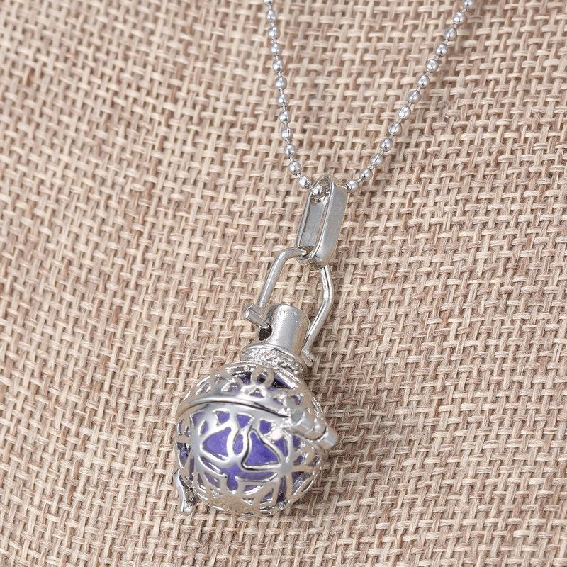 Aromatherapy filigree ball pendant with necklace includes 6 aromatherapy filigree ball pendant with necklace includes 6 essential oil diffuser padspendant necklaces aloadofball Gallery