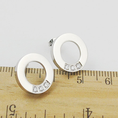 Circle of Life Stud Earrings with Crystal AccentsStud Earrings,  - Things to Zen About