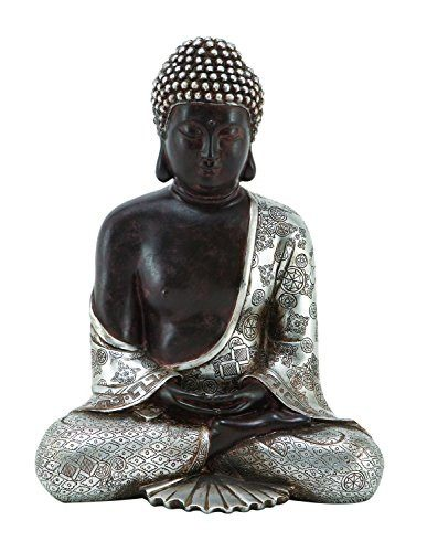Beautiful Resting Siddhartha Buddha with Gilded Silver Prayer RobeStatues & Sculptures,  - Things to Zen About