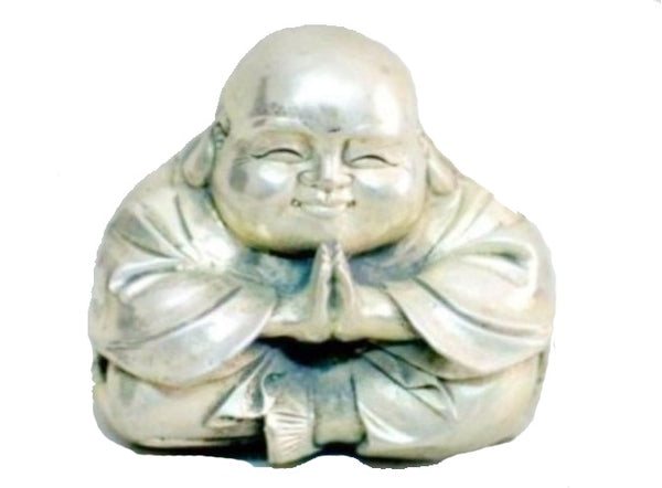 Silver Tibetan Sitting BuddhaStatues & Sculptures,  - Things to Zen About
