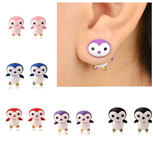 Girl's Hatchimals Penguala Style Penguin Stud EarringsStud Earrings,  - Things to Zen About