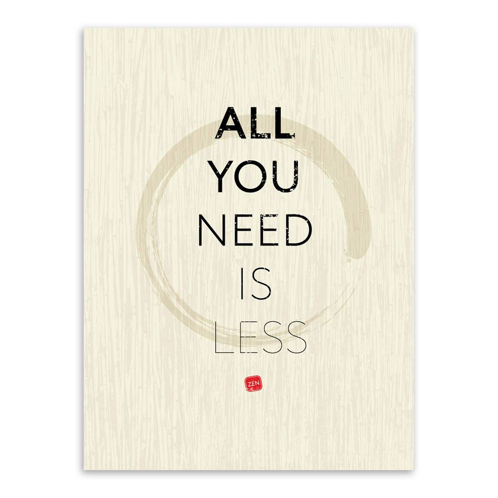 Quotes Zen Modern Minimalist Inspirational Life Zen Quotes On Silk Canvas
