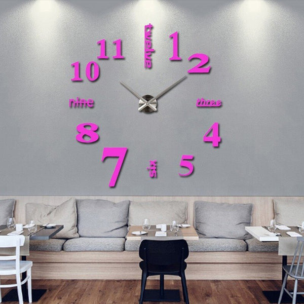 Modern Self-Adhesive 3D Wall Clocks - a great do-it-yourself project that anyone can design! Your walls will never be the same!Wall Clocks,  - Things to Zen About