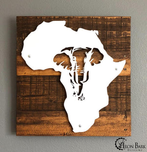Africa Elephant Metal Sign