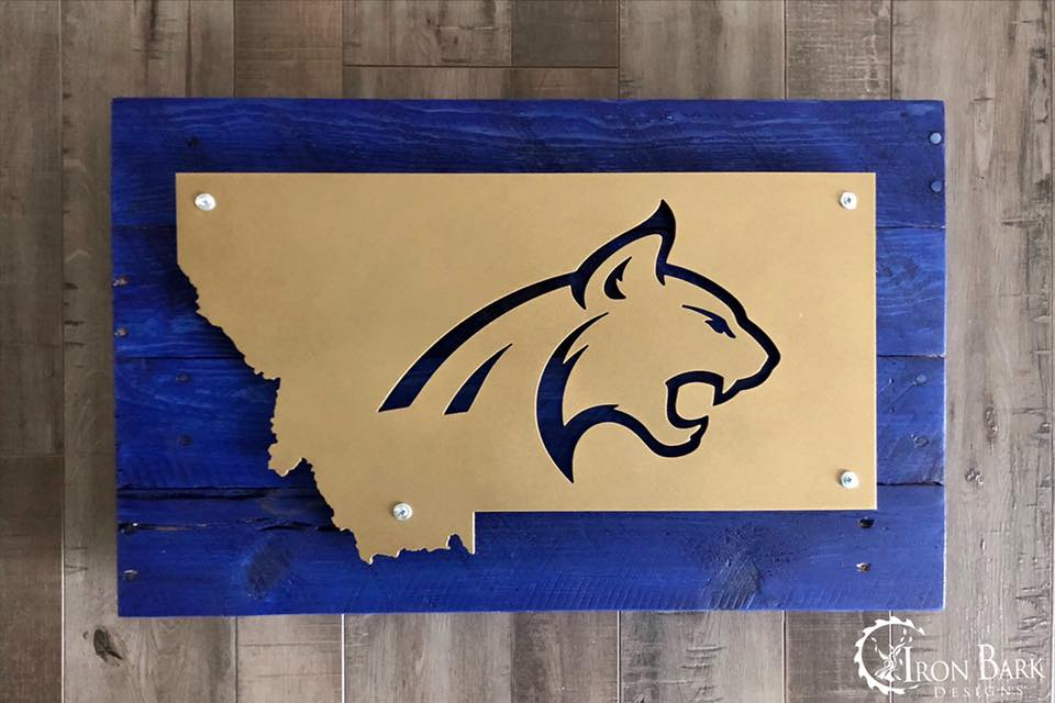 Montana State University Bobcat Metal Sign