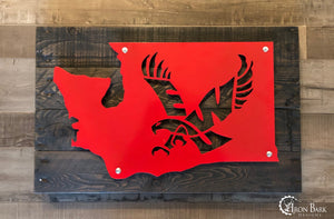 Eastern Washington University Eagles Metal Sign