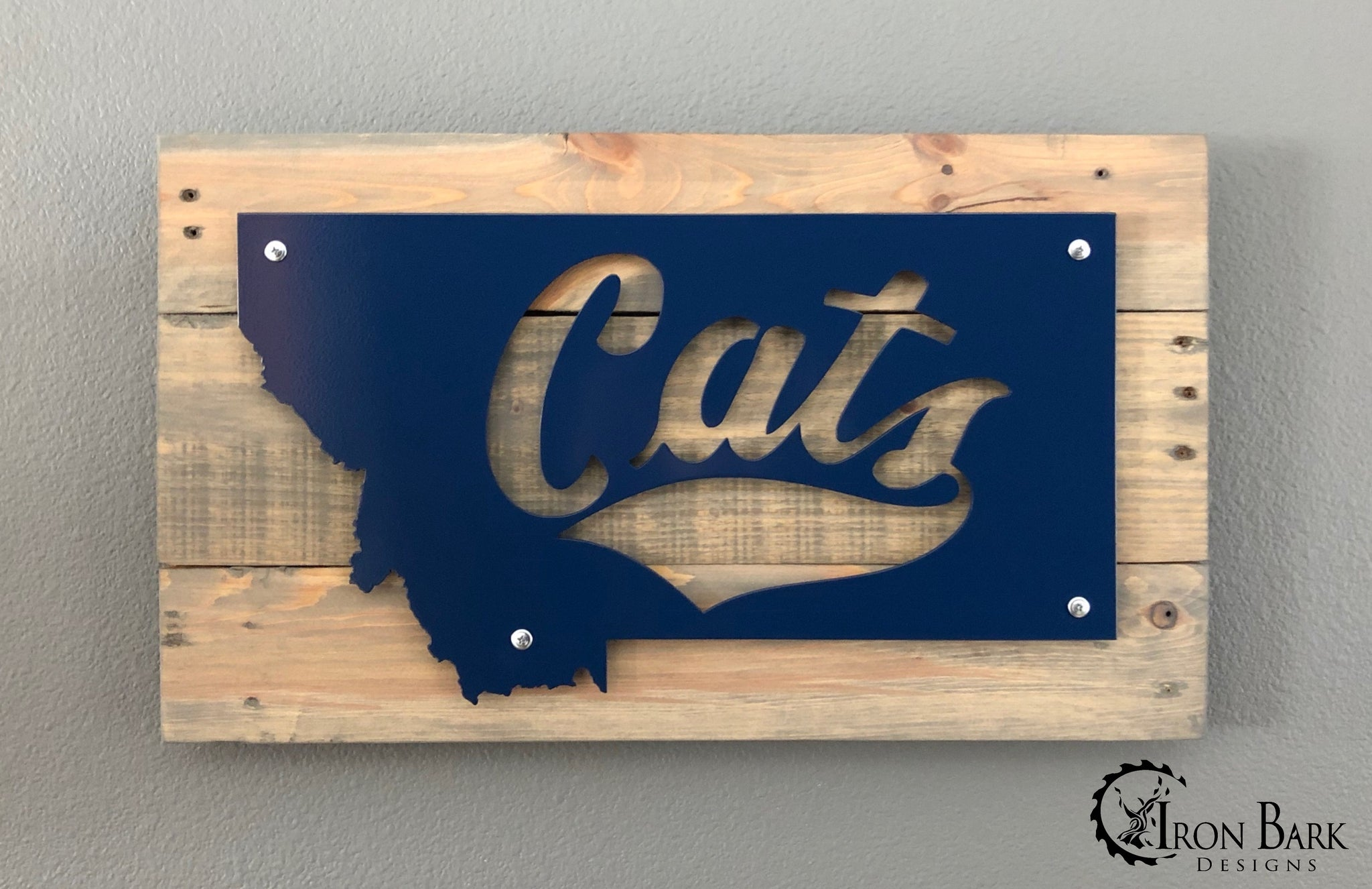 Montana State University Cats Metal Sign