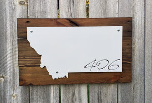 Montana 406 - Cursive Metal Sign