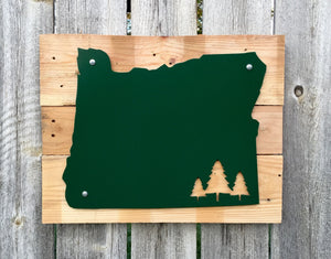 Oregon Trees Metal Sign