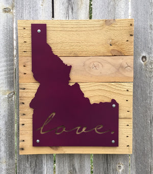 Idaho Love Metal Sign