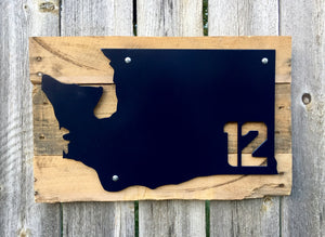 Washington 12th Man Metal Sign