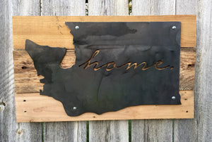Washington Home Metal Sign