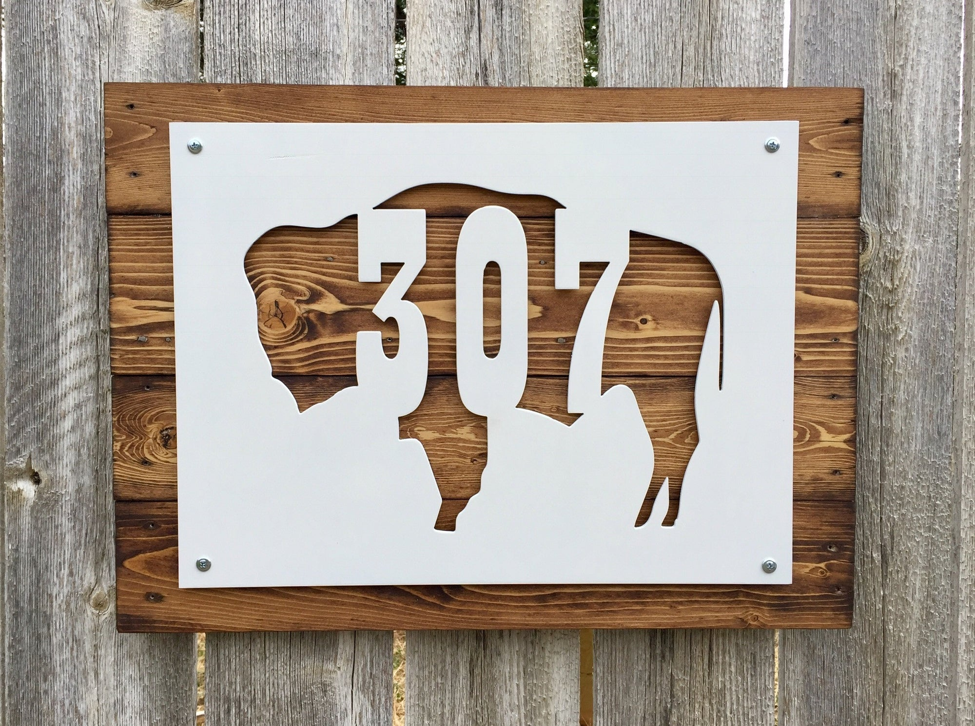 Wyoming Buffalo 307 Metal Sign