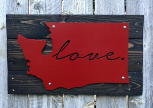Washington Love Metal Sign