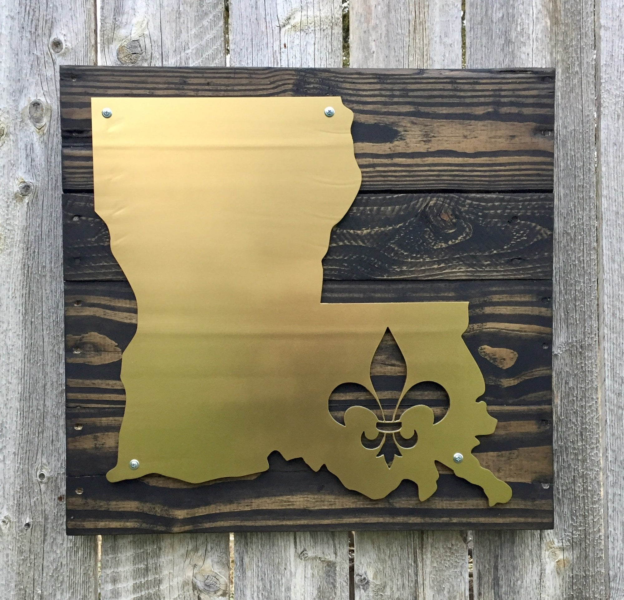 Louisiana Fleur De Lis Metal Sign