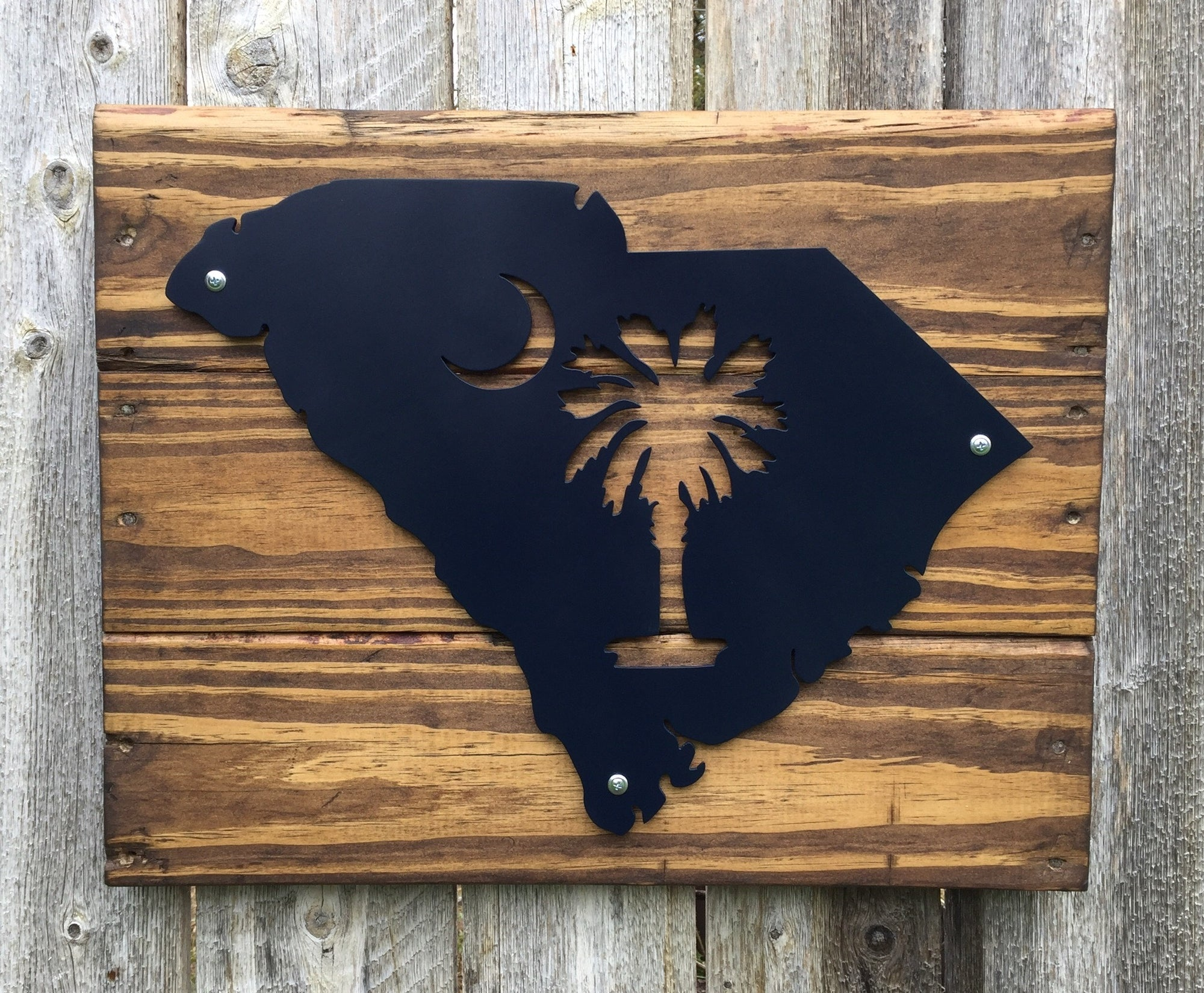 South Carolina Palmetto and Crescent Metal Sign