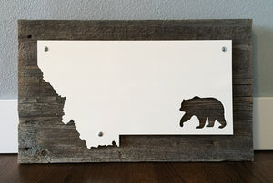 Montana Bear Metal Sign