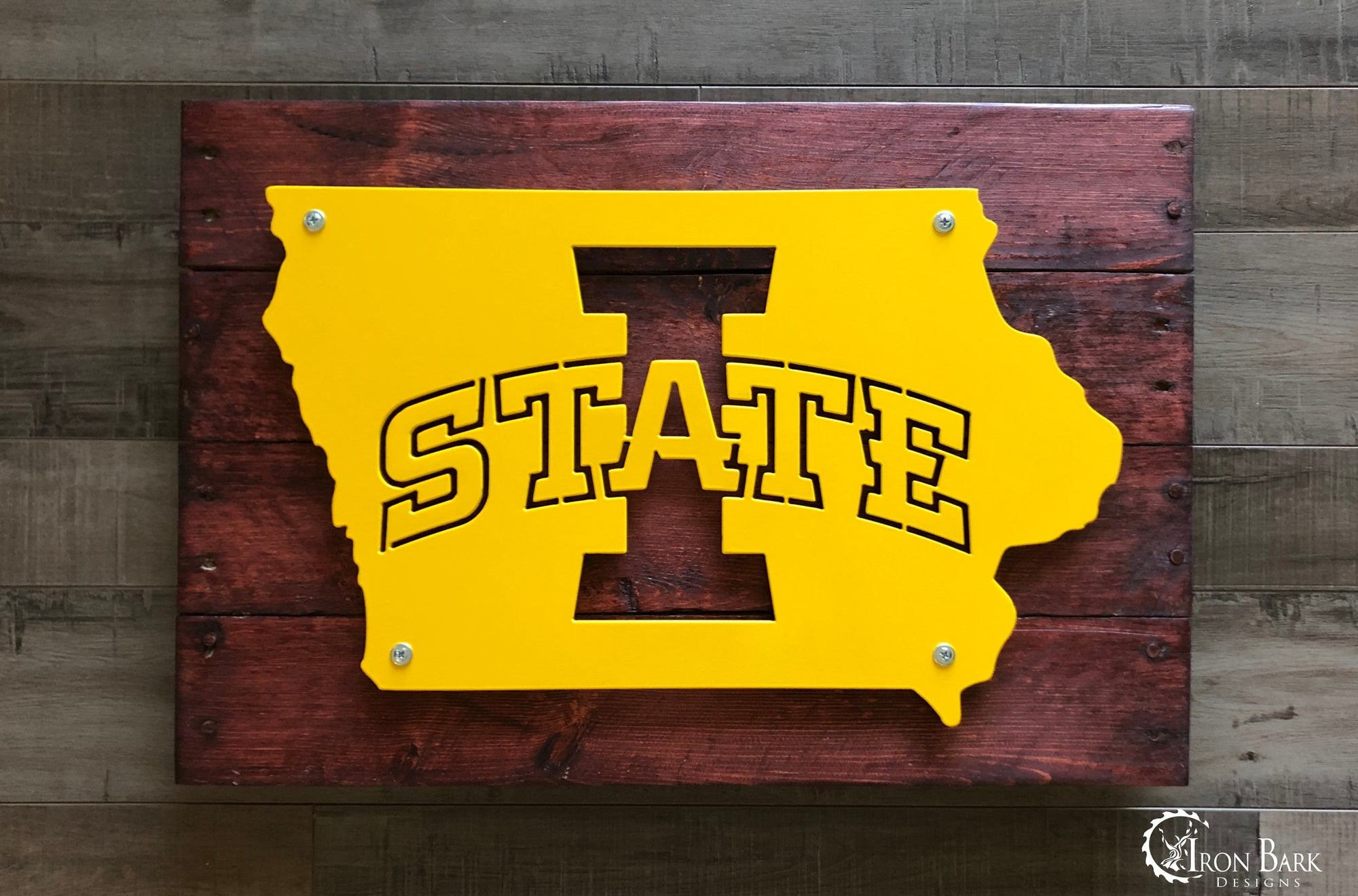 Iowa State University Cyclones Metal Sign
