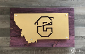 Montana Carroll College Fighting Saints Metal Sign