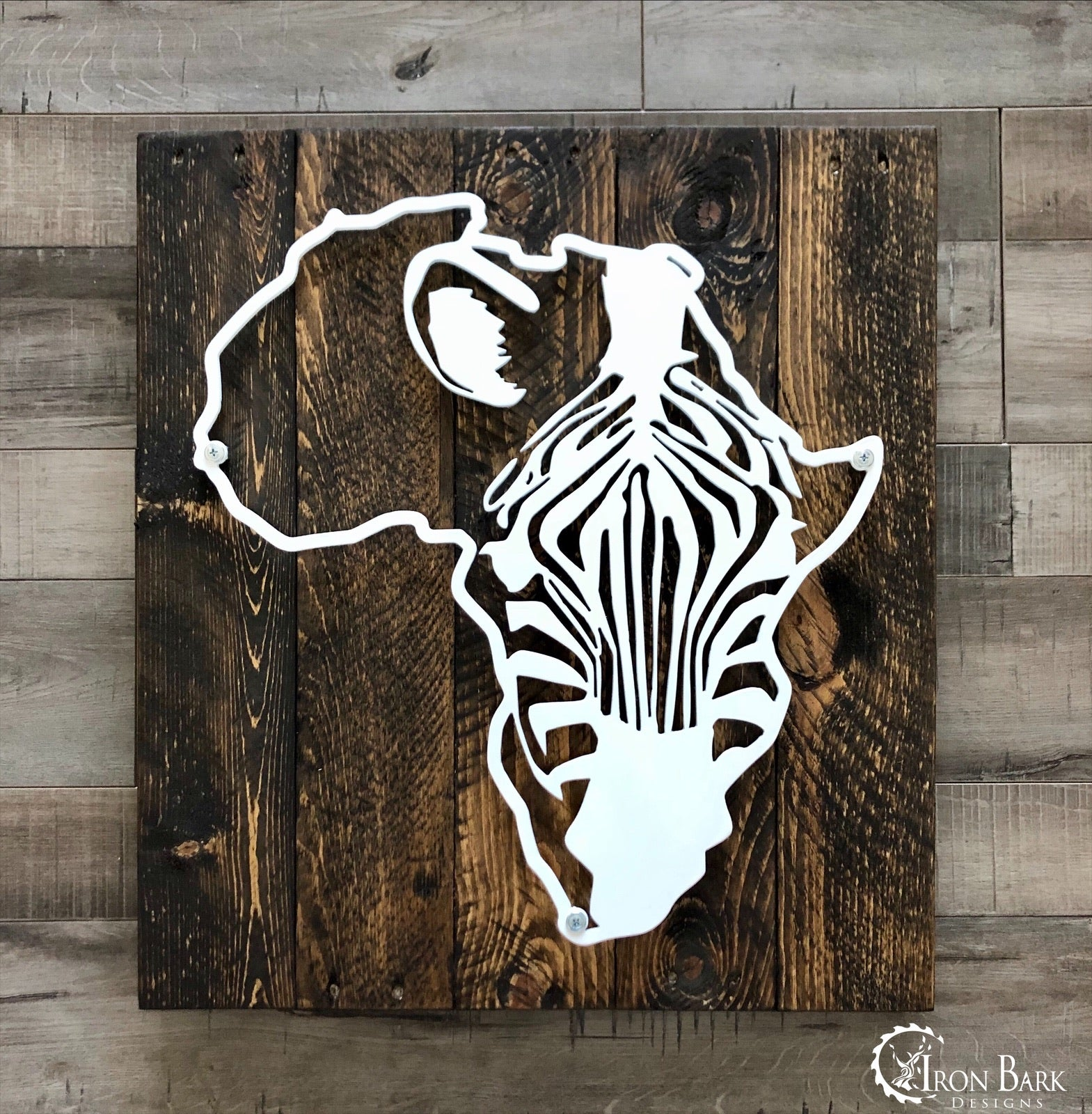Africa Zebra Metal Sign