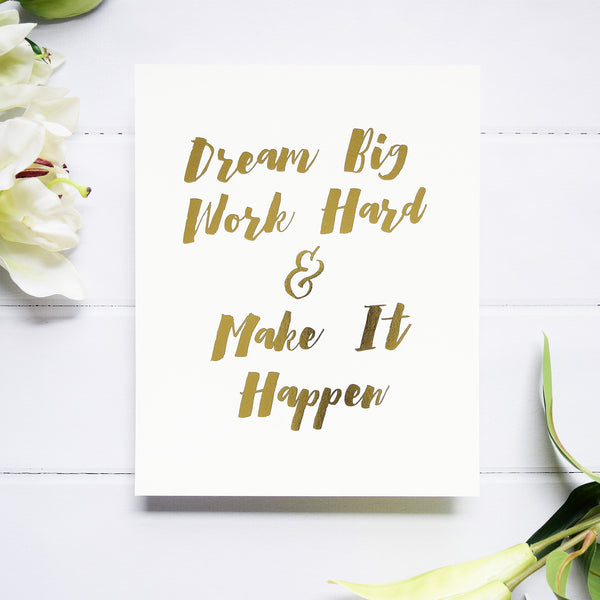 FP-DB8x10 Foil Print - Dream Big 1