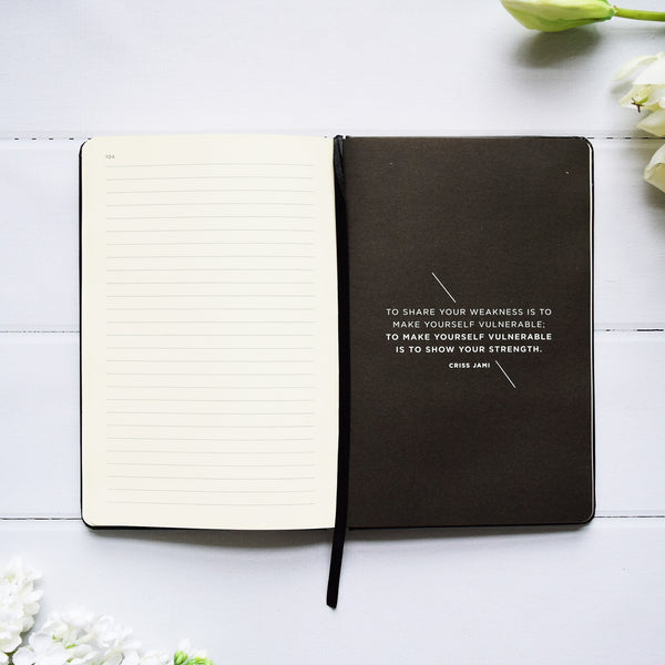 Up & Atem Frank Stationery JHA5-BG Black/Cross Journal 1 front